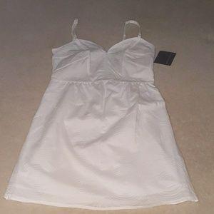 Mini white summer corset dress